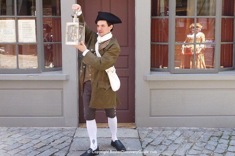 Reenactor portraying Paul Revere