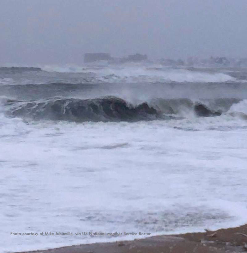 A nor'easter propelled the blizzard that's hitting Revere Beach in this photo