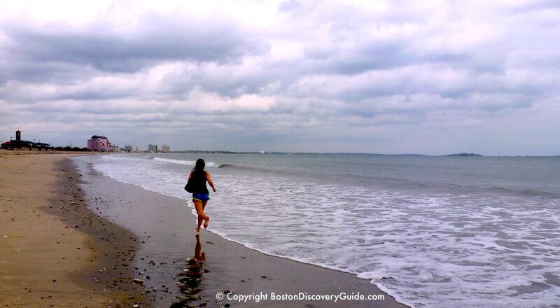 Running On Revere Beach