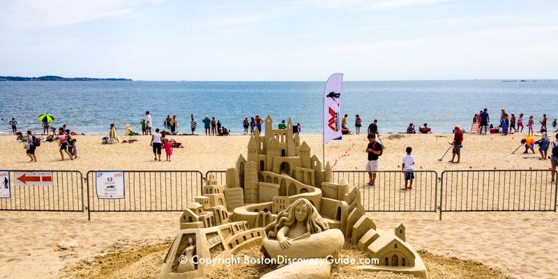 Sand sculpture at Revere Beach near Boston MA