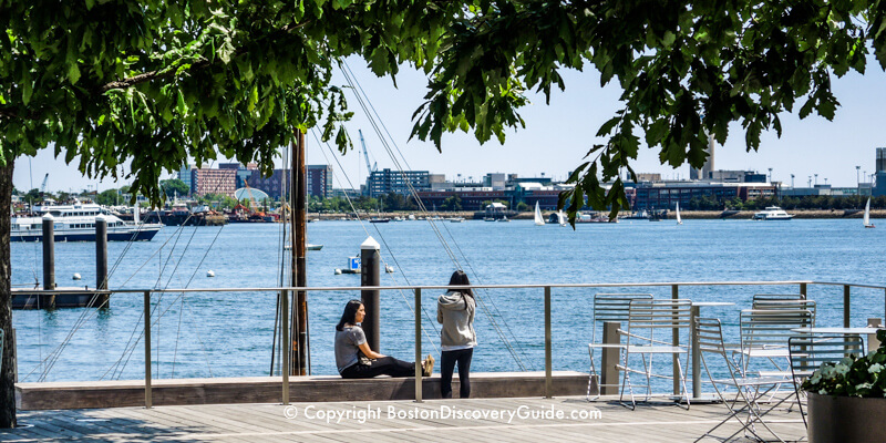 Tranquil moment on the South Boston Waterfront