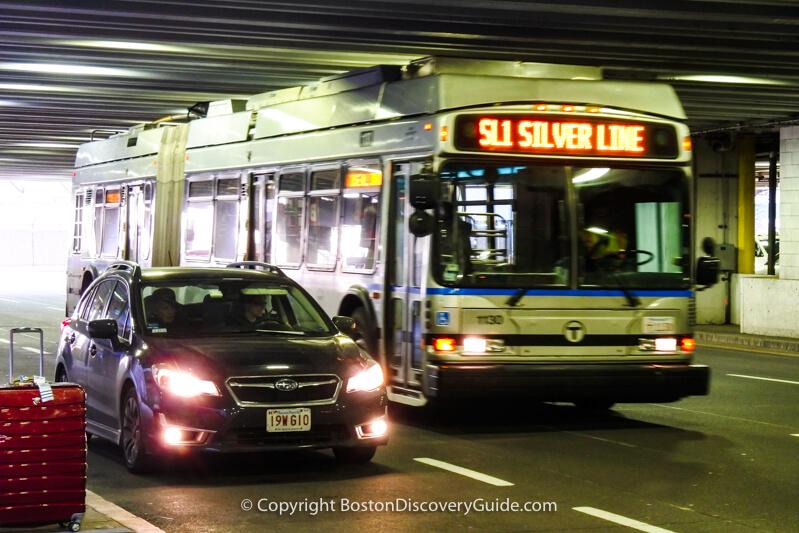 Silver Line bus at Logan Airport