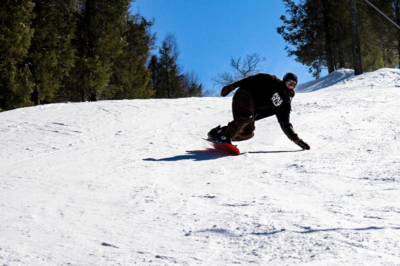 Skier at Ski Butternut near Boston