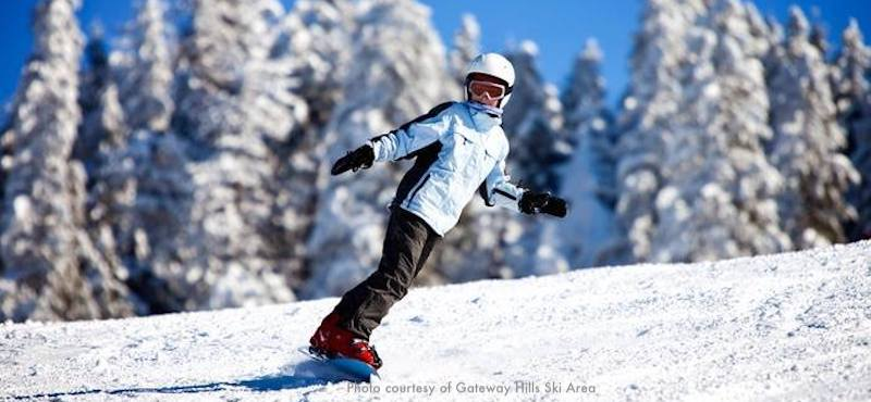 Popular New England ski areas include Pat's Peak near Boston