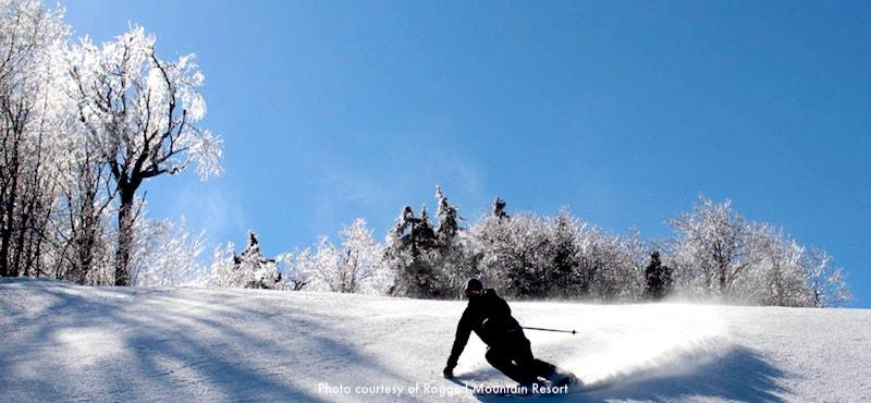 Ragged Mountain Ski Resort, 2 hours north of Boston