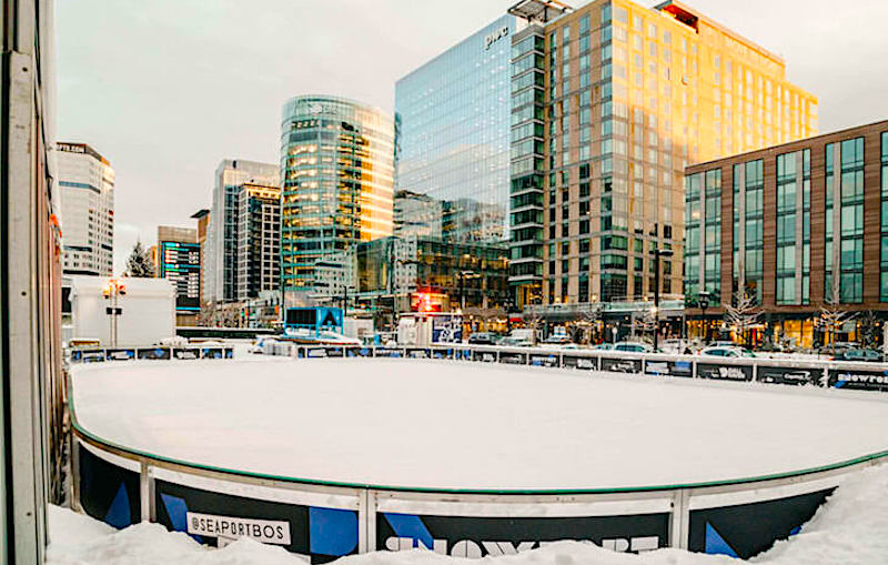 Snowport Ice Rink - photo courtesy of Boston Seaport