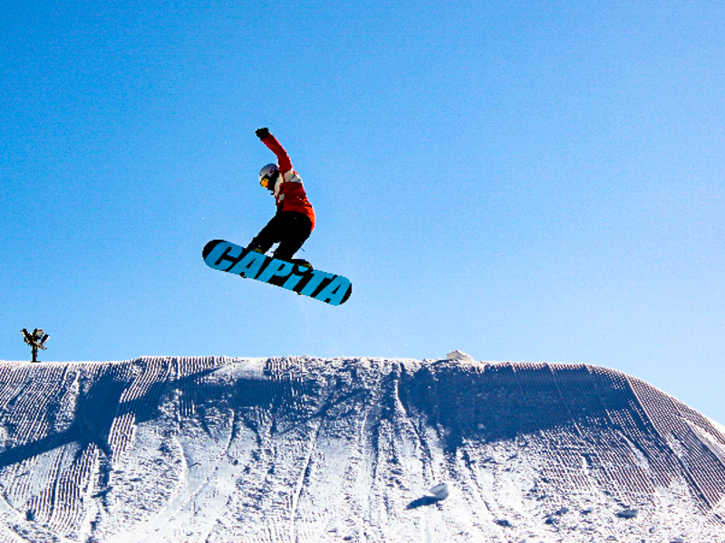 Snow boarding at Ski Ward Hill