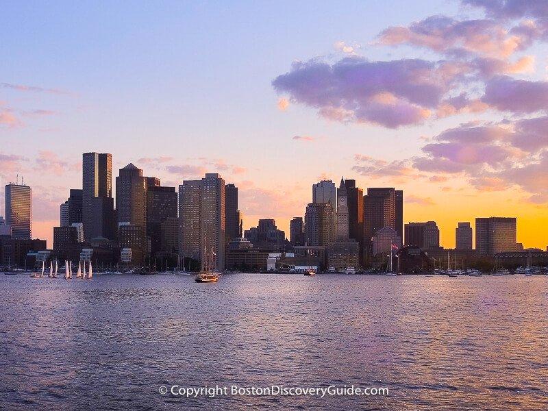 Odyssey cruise ship in Boston Harbor