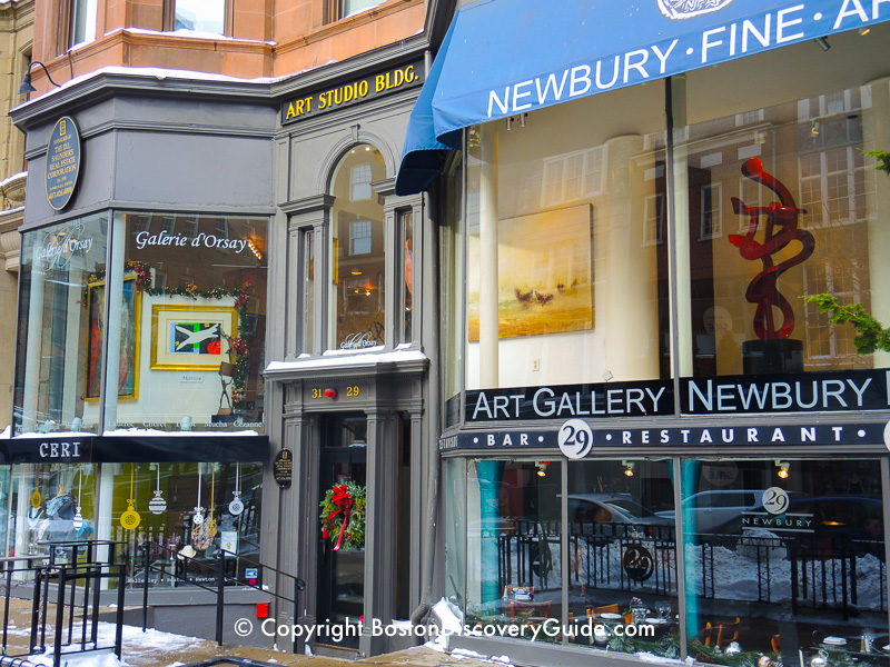 Winter walking tour of Boston: Newbury Street