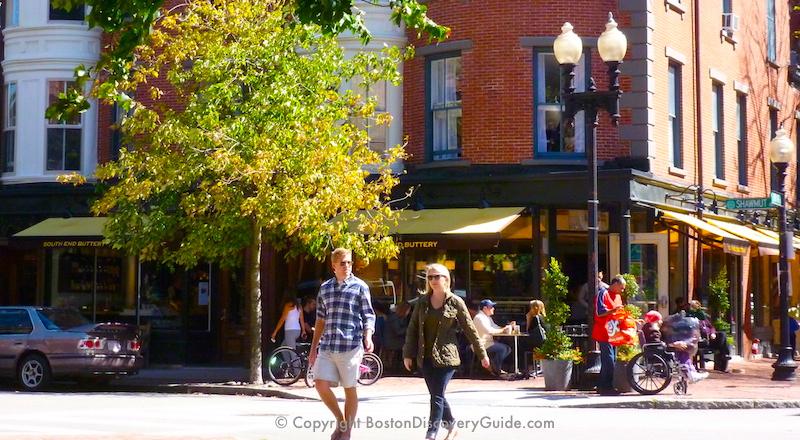 Boston's SouthEnd neighborhood on a Saturday morning