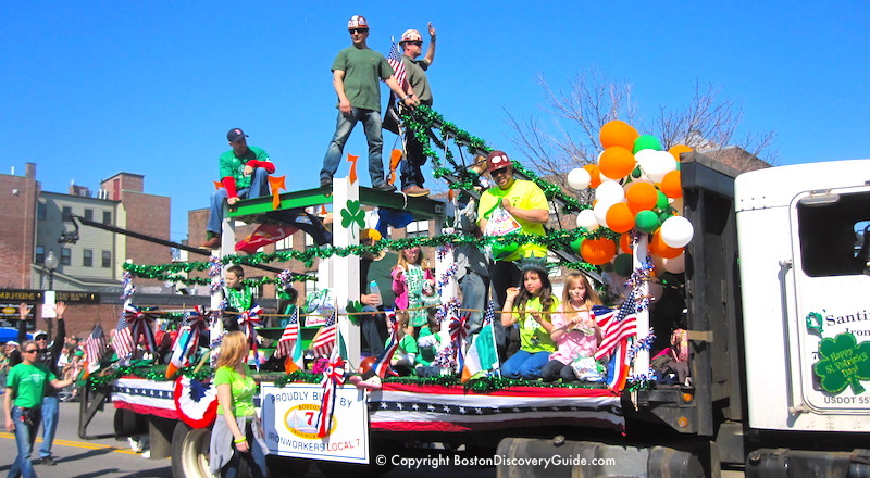 Float in Boston's St. Patrick's Day Parade