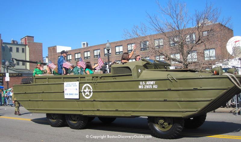 VFW Post 460 from Winthrop, Massachusetts in a Boston Duck Boat,