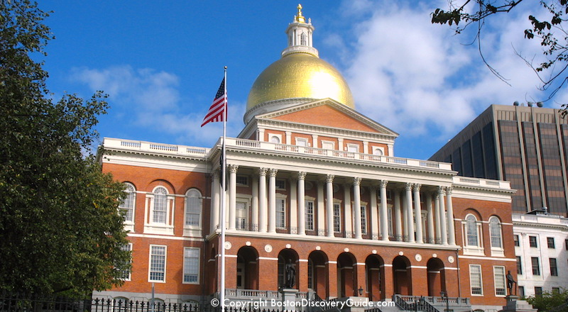 Massachusetts State House in Boston's Beacon Hill