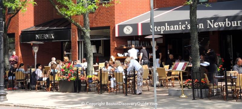 Stephanie's outdoor seating area in Boston's Back Bay