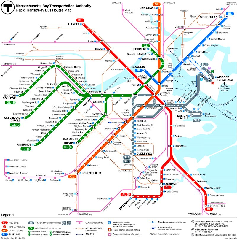 Subway Map Boston