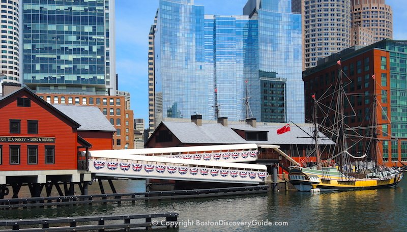 Boston Tea Party Ships & Museum on Fort Point Channel in the South Boston Waterfront neighborhood