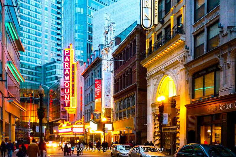 Boston neighborhoods:  Theatre District