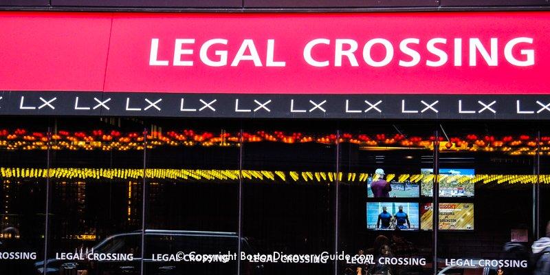 Legal Crossing Restaurant in Boston's Theatre District