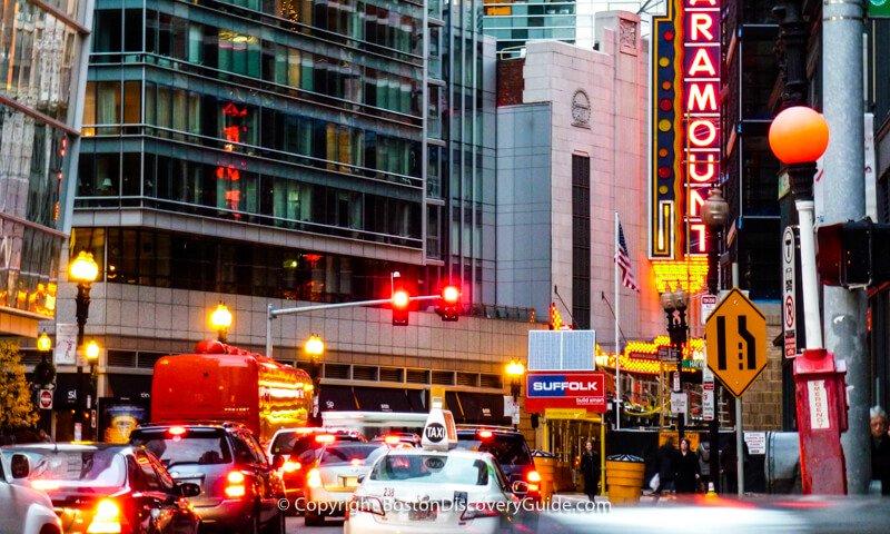 Traffic in Boston's Theatre District