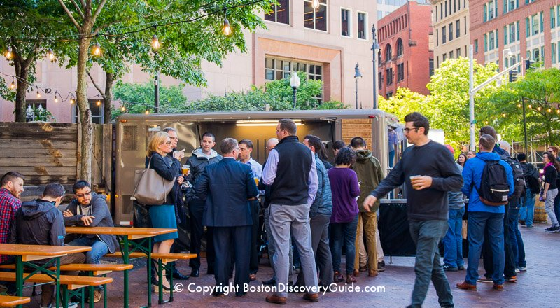 Boston's Greenway attraction:  Trillium Outdoor Beer Garden