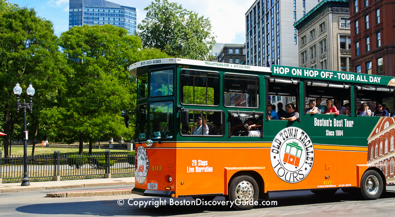 Boston trolley tours - Old Town Trolley