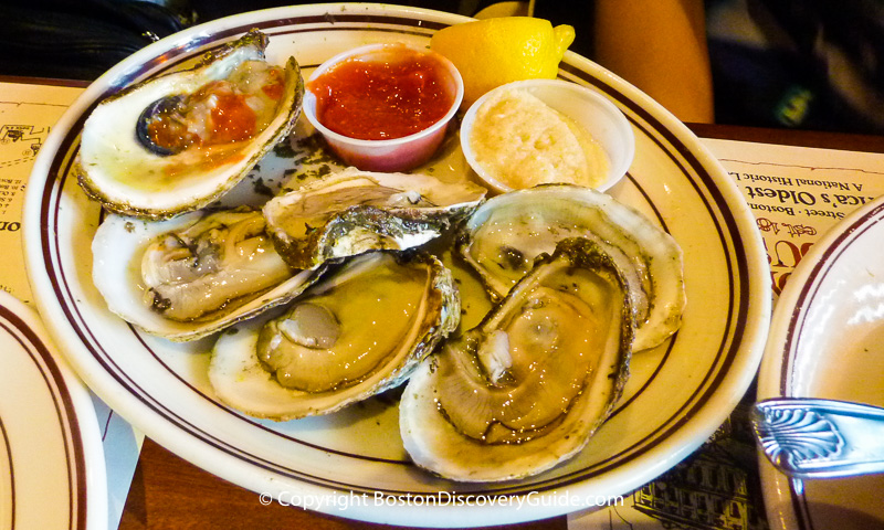 Oysters at Union Oyster House in Boston