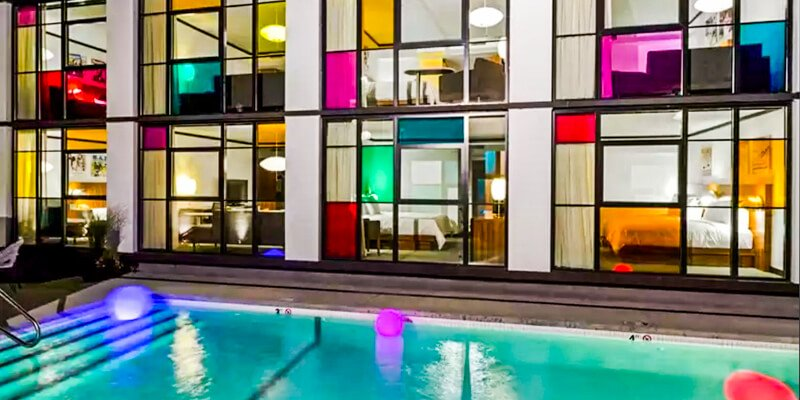 Boston hotels with outdoor swimming pools:  The Verb