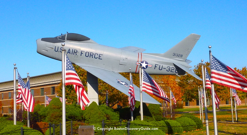 F-86 Sabrejet from Korean War at Hanscom Air Force Base in Concord MA, 10 miles west of Boston
