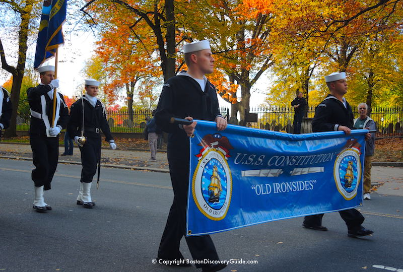 Veterans Day Parade - Crew from USS Constitution