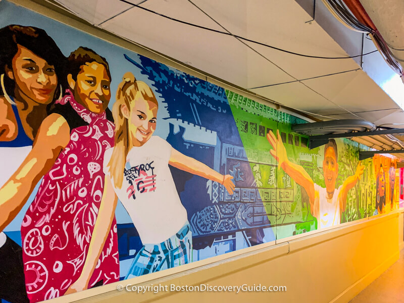 Wang Theatre murals