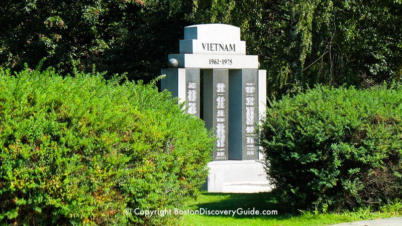 Vietnam War Memorial in the Fenway neighborhood