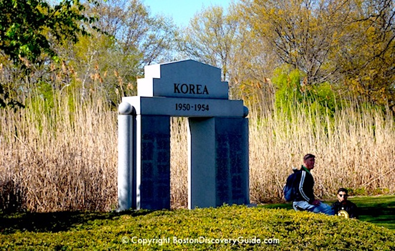 Korean War Memorial near the Fens