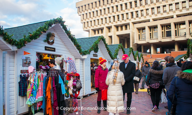 Ice Skating Path and Holiday Markets - Boston's City Hall Plaza