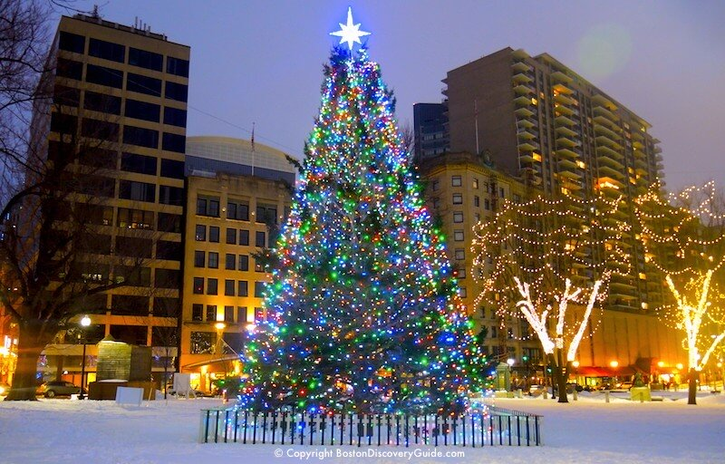 christmas tree on boston common gift from nova scotia lighted - Lighted Christmas Presents