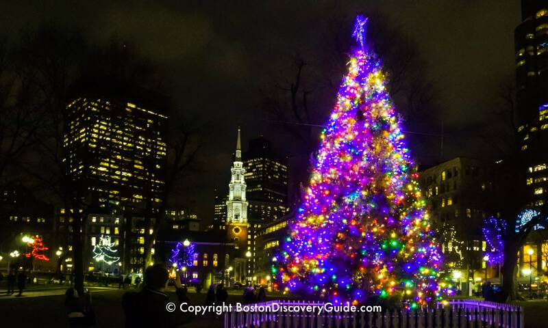 Boston Christmas Lights.Boston Christmas Tree Lighting Events Schedule 2019 Boston