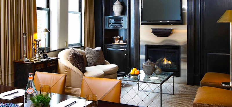 Find out about fireplaces in rooms at Fifteen Beacon Hotel in Boston