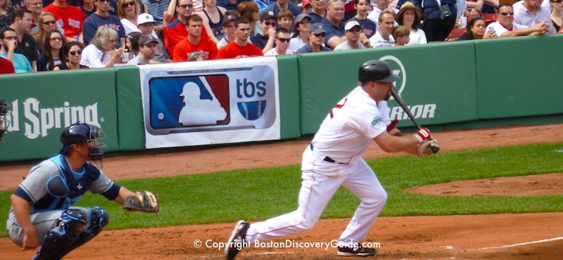 Boston Red Sox playing at Fenway Park