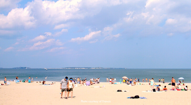 Revere Beach on a sunny summer afternoon -  Photo courtesy of Francis under Creative Commons License