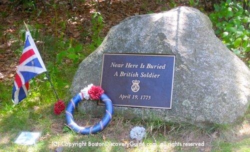 British grave marker - American Revolution - Lincoln, MA