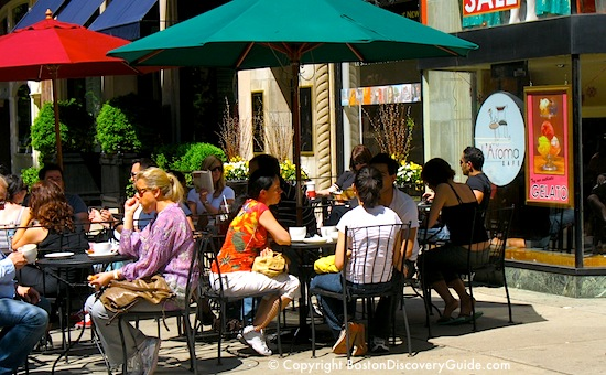 Back Bay Boston Restaurants Offer Outdoor Dining During Warm Weather