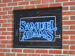 Sam Adams neon sign in Boston