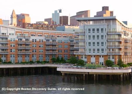 Battery Wharf Boston Hotel seen from Boston Harbor