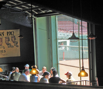 Inside Bleacher Bar at Boston's Fenway Park / Boston Bars near Fenway - www.boston-discovery-guide.com