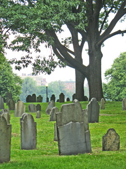 Picture of Central Burying Ground in Boston Common / www.boston-discovery-guide.com