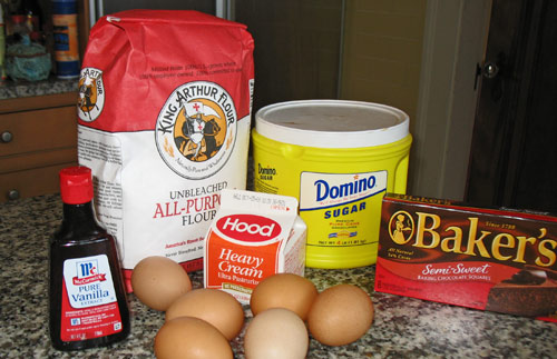 Boston Cream Pie recipe ingredients from boston-discovery-guide.com