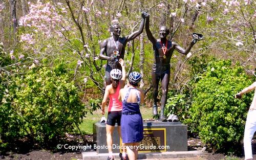 Boston Marathon - statue of John Kelly