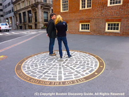Boston Massacre site outside the Old State House