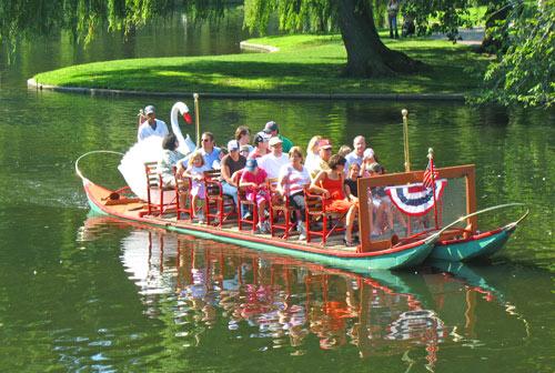 Photo of swan boat ride in Boston's public gardens