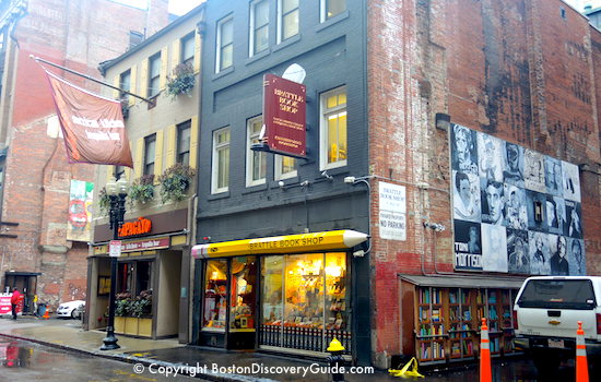 Boston's Brattle Bookstore and wall murals