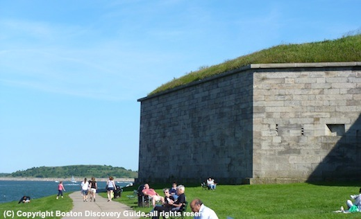 Photo of Pleasure Bay and Fort Independence on Castle Island - www.boston-discovery-guide.com